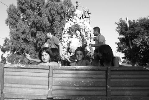 Processione del migrante, Craco - Basilica 2014